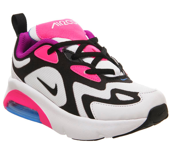 Kids Nike Air Max 200 Ps White Black Hyper Pink Photo Blue