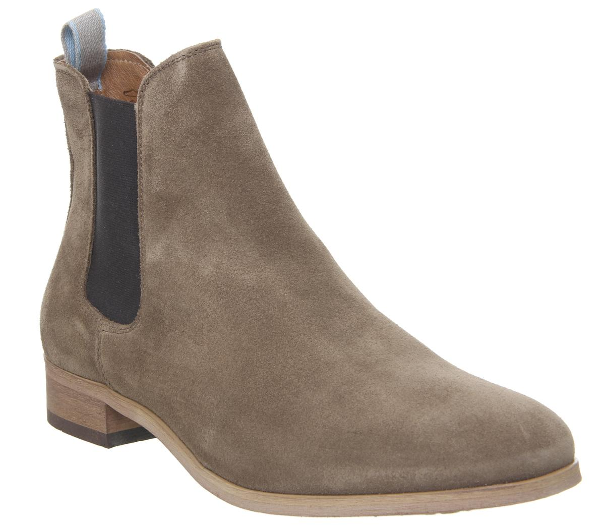 Mens Shoe The Bear Dev Chelsea Boot Tobacco Suede