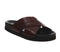 Womens Office Savage Cross Strap Footbed Burgundy Croc Leather