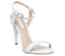 Womens Office Hotness Cone Heel Two Part Sandal White Leather
