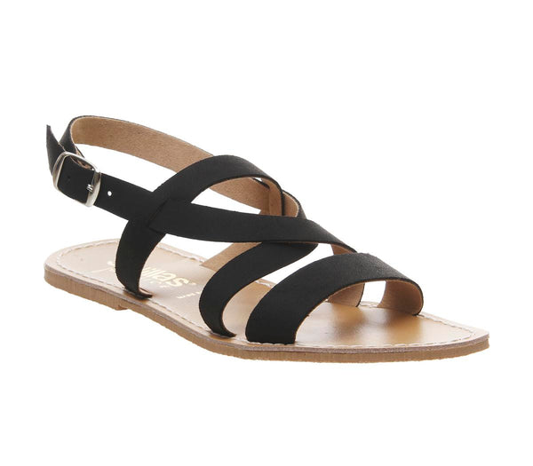 Womens Solillas Solillas Strappy Sandal Black