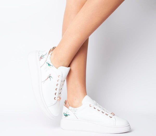 15aecd4209616e Womens Ted Baker Ailbe 4 Sneaker White Fortune Leather Uk Size 6