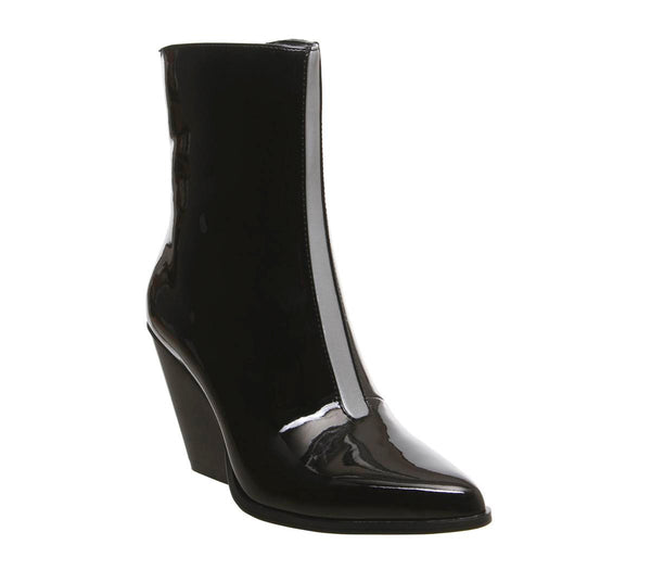 Womens Ego Alba Heeled Boot Black Reflective