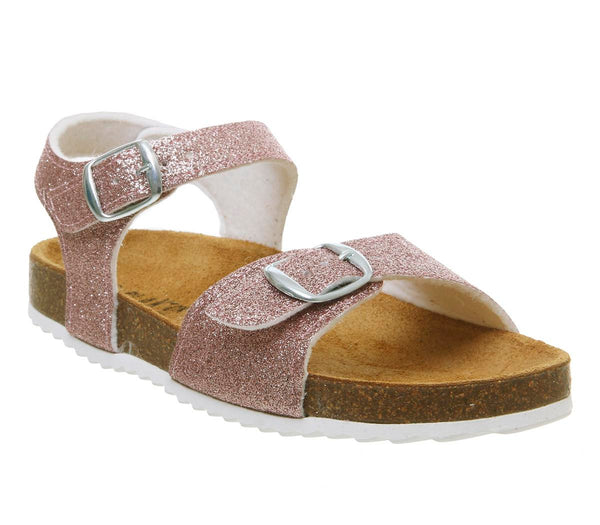 Kids Plankton Lisa Sandal Rose Gold Glitter