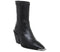 Womens Office Ashen Western Sock Boot Black Leather