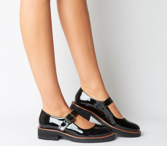 Womens Office Flint Mary Jane Black Patent Leather