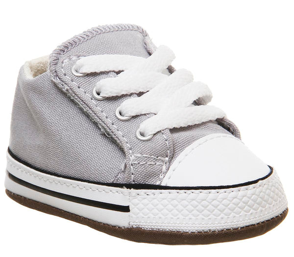 Kids Converse Cribstar Wolf Grey Natural Ivory White