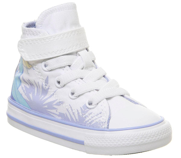 Kids Converse All Star Hi 1vlace White Blue Heron Elsa Frozen