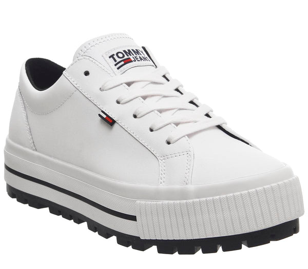 Womens Tommy Hilfiger Cleated Sneaker White