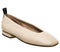 Womens Office Fixture Square Toe Ballerina Off White Leather