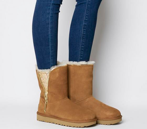 Womens Ugg Classic Zip Boot Chestnut Uk Size 5