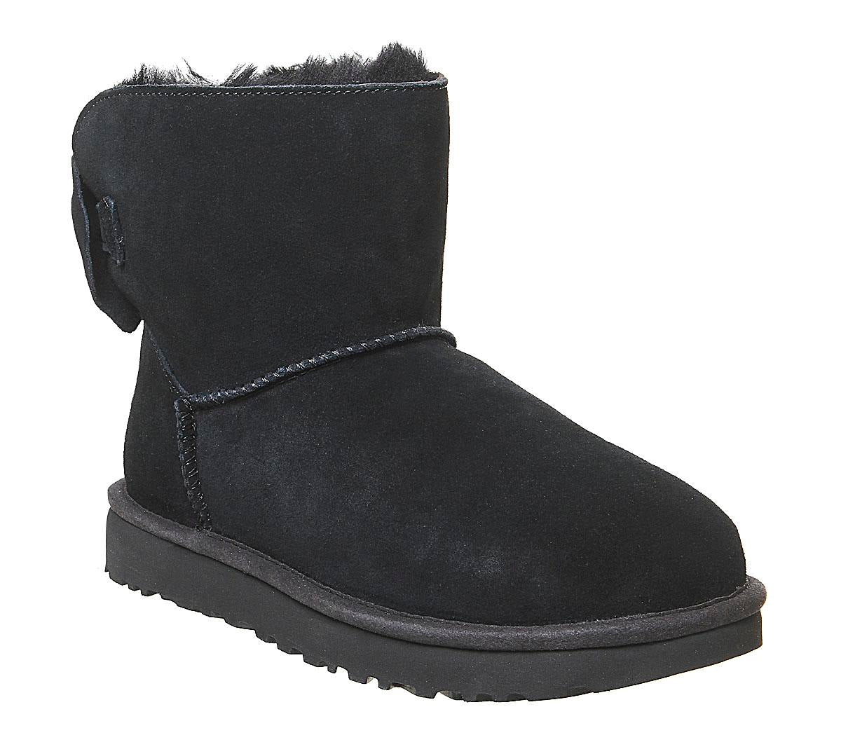 Womens Ugg Star Bow Mini Black Exclusive