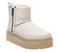 Womens Ugg Classic Rebel Biker Mini Bone