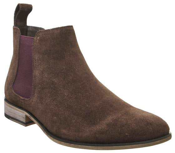 Mens Office Barkley Chelsea Boot Choc Suede Uk Size 8