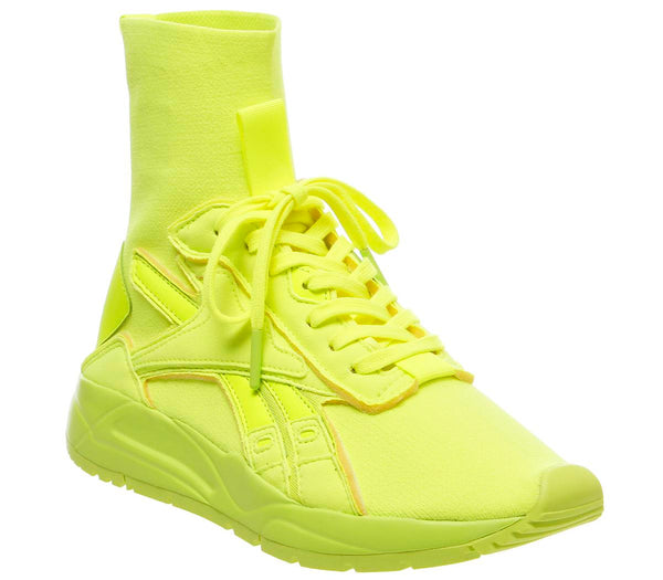 Womens Reebok Vb Bolton Sock Solar Yellow