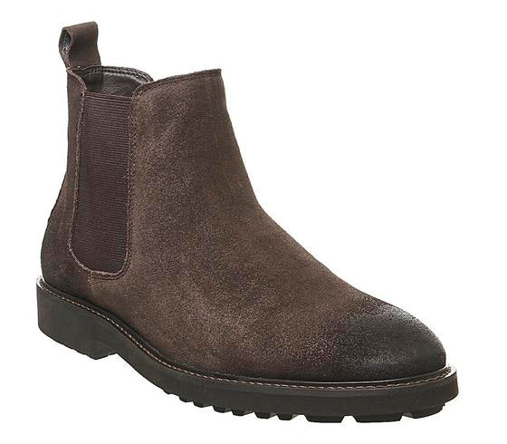 Mens Office Blake Chelsea Boot Brown Leather Uk Size 8