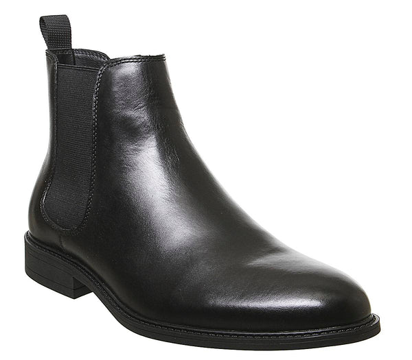 Mens Office Bruno Chelsea Boot Black Leather