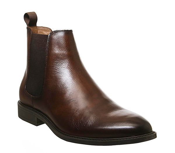 Mens Office Bruno Chelsea Boot Brown Leather