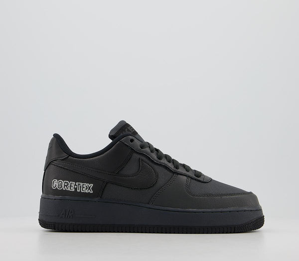 Mens Nike Air Force 1 Gtx Trainers Anthracite Black Barely Grey