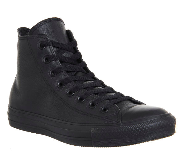 Unisex Converse All Star Hi Leather Flash Black Mono