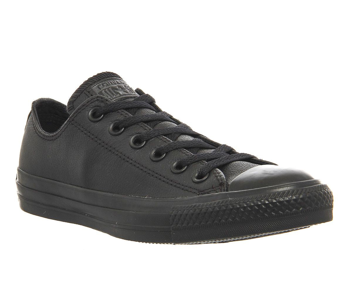 Unisex Converse All Star Low Leather Flash Black Mono