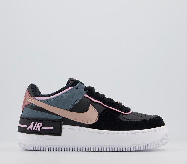 Womens Nike Air Force 1 Shadow Black Metallic Red Bronze Light Artic Pink