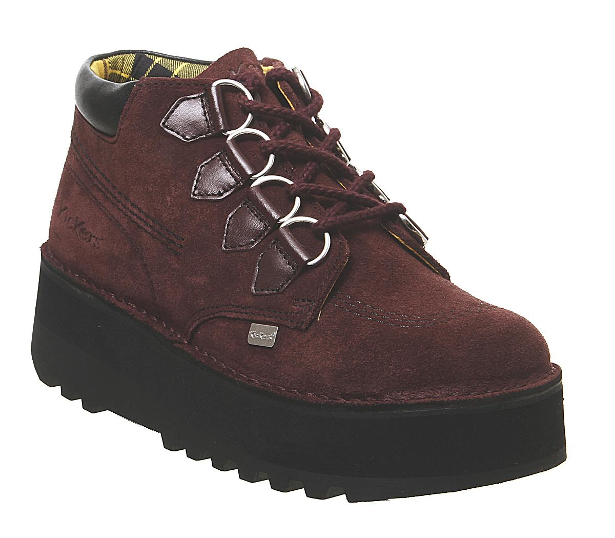 Womens Kickers Kick Hi Creepy Burgundy