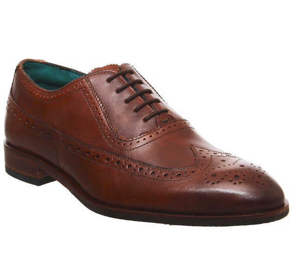 Mens Ted Baker Asonce Brogue Tan