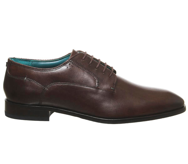 Mens Ted Baker Parals Derby Shoes Brown