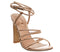 Womens Office Harmonia Strappy Block Heel Rose Gold