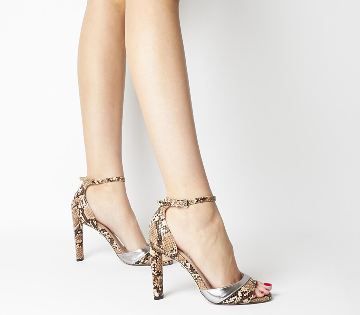 Womens Office Hila Wf Ankle Strap Sandal Natural Snake