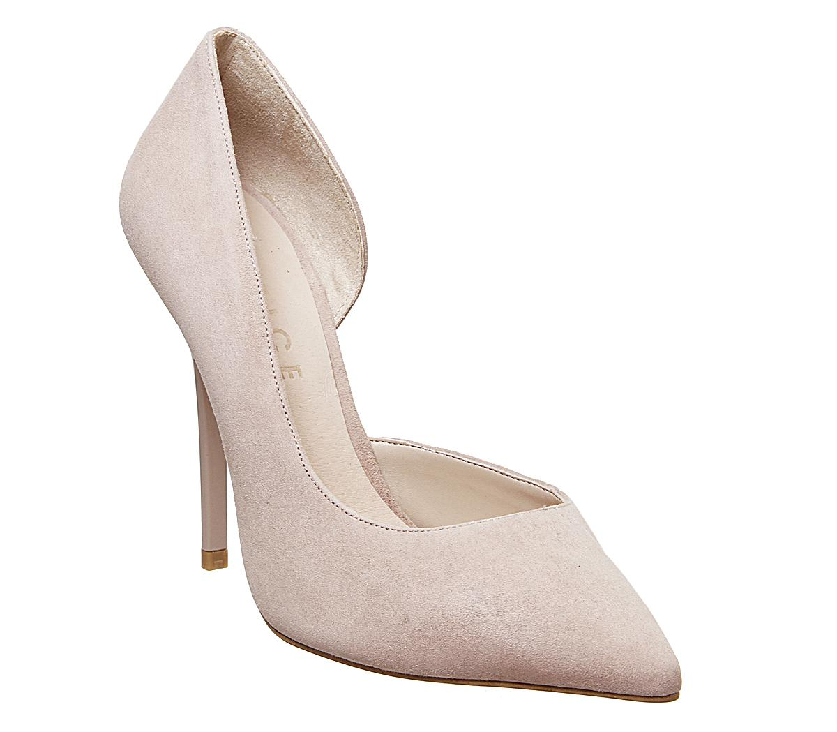 Womens Office Happiness Court Shoe Nude Suede