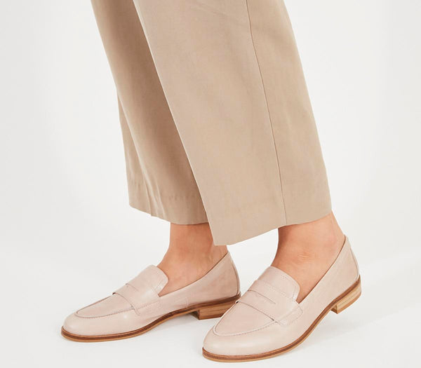 Womens Office Friendship Soft Loafer New Nude Leather Uk Size 3