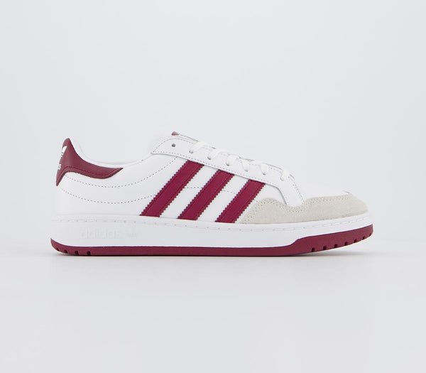 Womens Adidas Team Court White Collegiate Burgundy Core Black