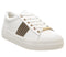 Womens Office Freestyle Lace Up Trainer White With Strass