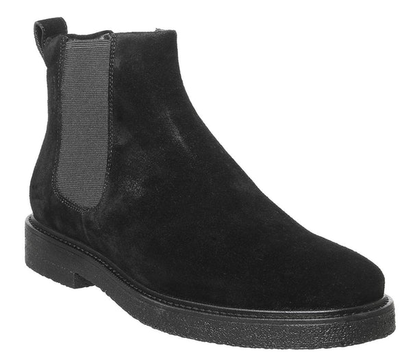Mens Office Gary Chelsea Boot Black Suede