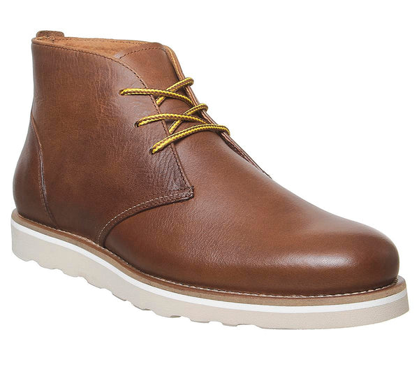 Mens Office Barron Chukka Tan Leather