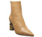 Womens Office Attention High Feature Heel Boot Camel Leather Feature Heel