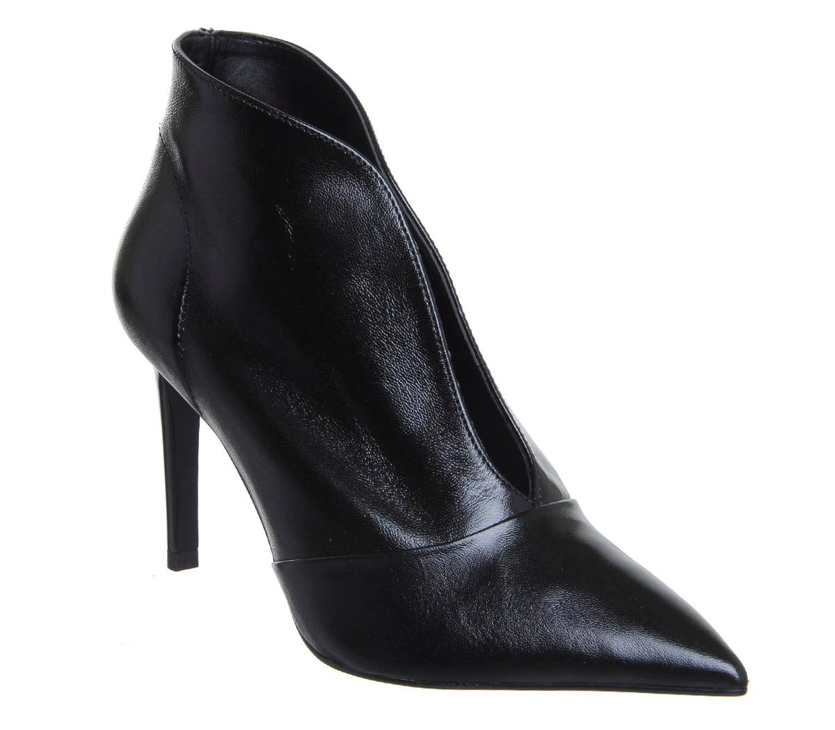 Womens Office Master Piece V Cut Shoeboot Black Leather
