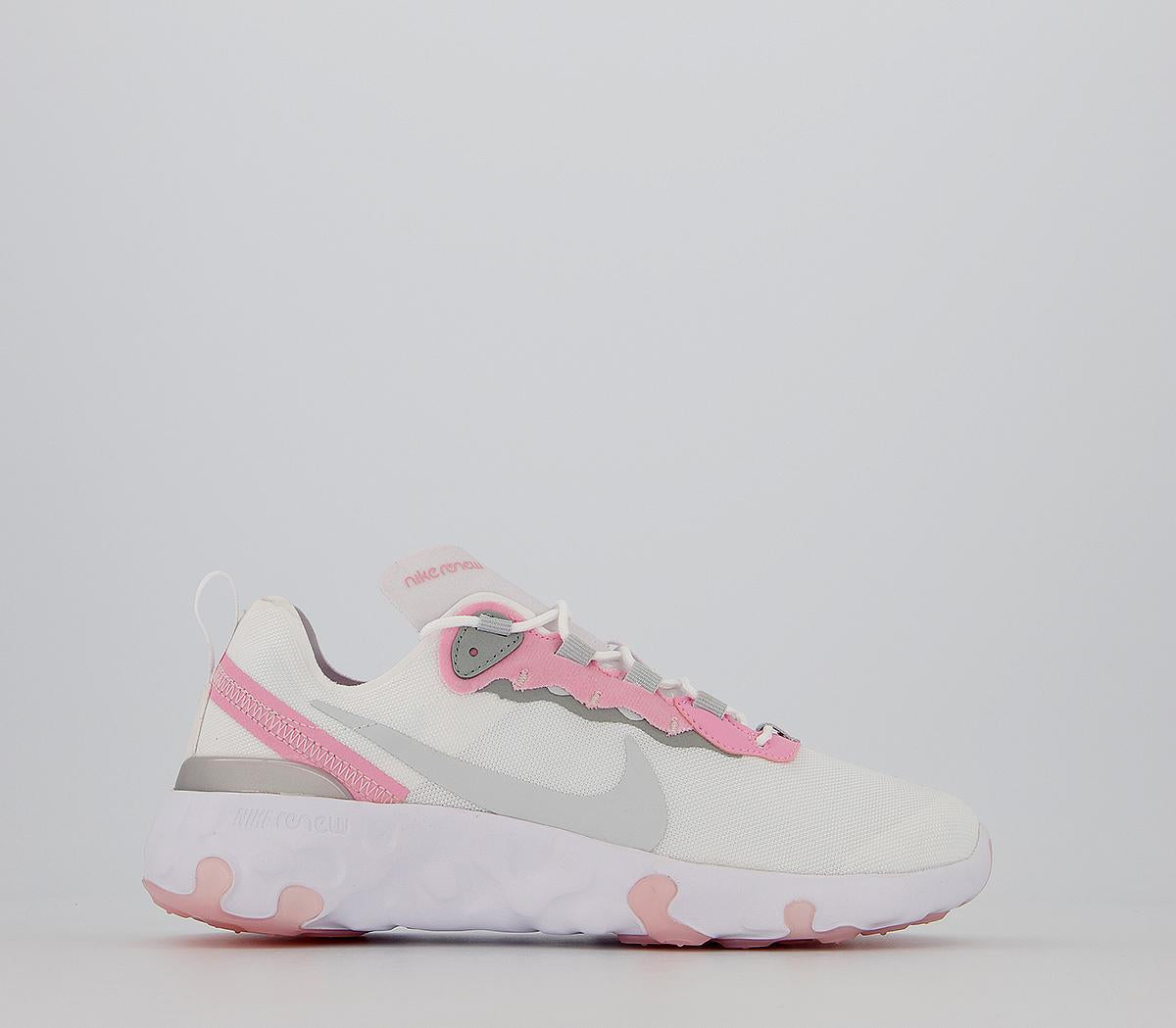 Kids Nike Renew Element 55 Gs White Pure Platinum Pink Light Smoke Grey