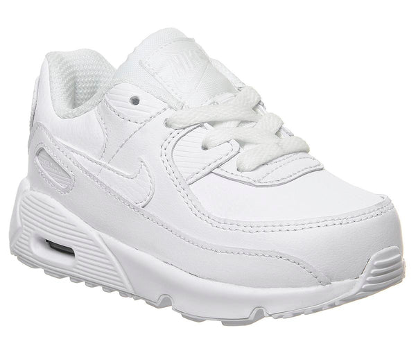 Kids Nike Air Max 90 Infant White White Metallic Silver