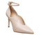 Womens Office Hot Toddy Ankle Strap Shoe Boot Cream Leather