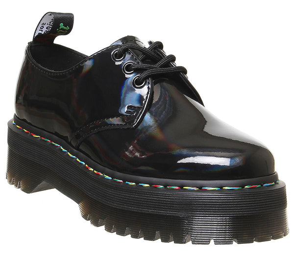 Womens Dr.Martens 1461 Quad 3 Eye Shoe Black Rainbow