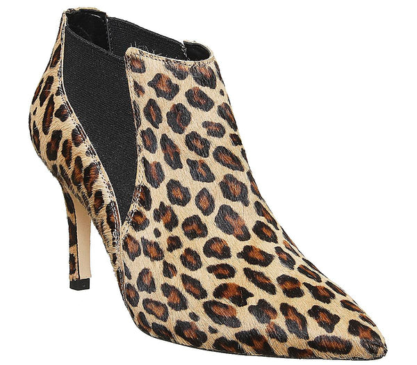 Womens Office Maxwell Pointed Chelsea Boot Leopard Pony