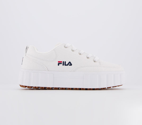 Womens Fila Sandblast Low White Navy Red