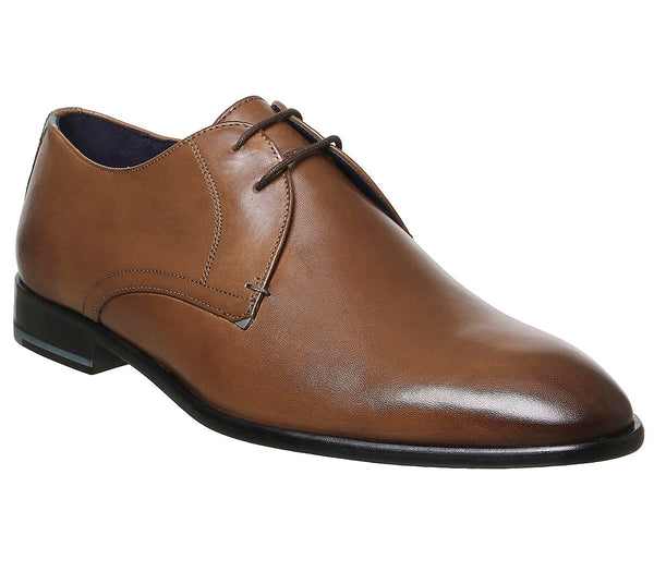 Mens Ted Baker Sumpsa Lace Up Derby Shoes Tan