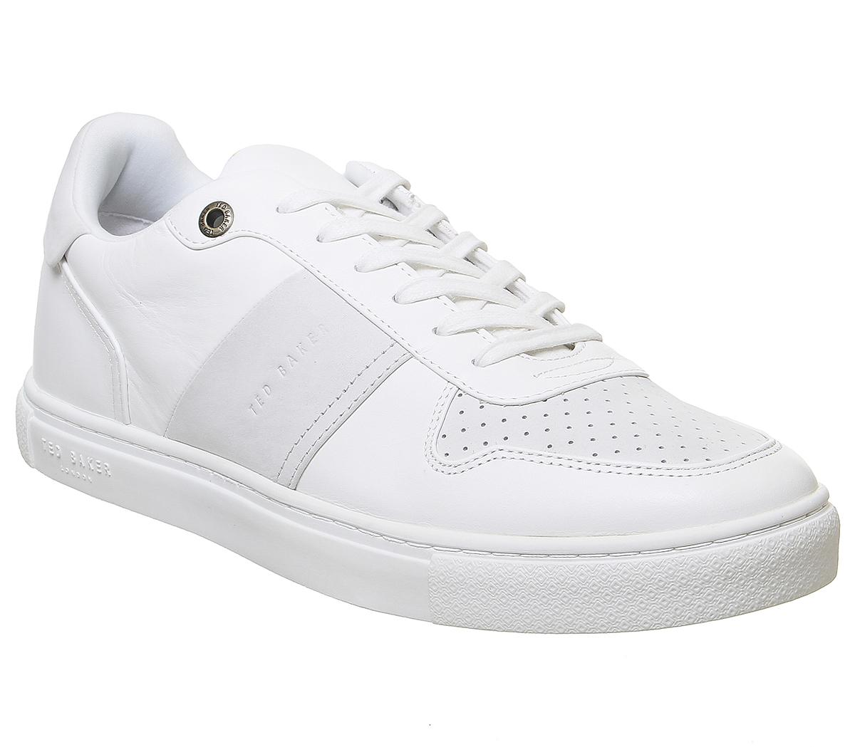 Mens Ted Baker Coppin Trainer White