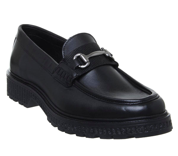 Mens Office Celestial Loafer Black Leather