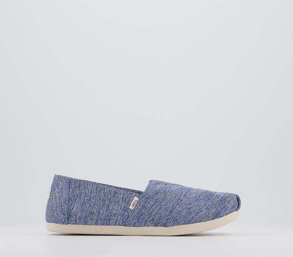 Odd sizes - Womens Toms Repreve Alpargata Shoes Val Blue UK Sizes R6/L5