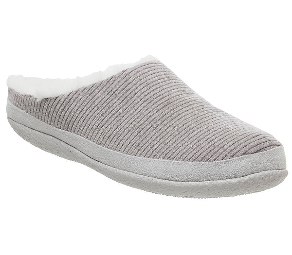 Womens Toms Ivy Slipper Cement Grey Corduroy